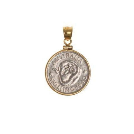 AUSTRALIAN SHILLING - GOLD FILLED BEZEL | Vintage Spirit - Handcrafted Coin Creations