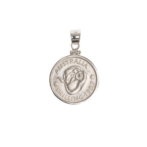 AUSTRALIAN SHILLING - STERLING SILVER BEZEL | Vintage Spirit - Handcrafted Coin Creations