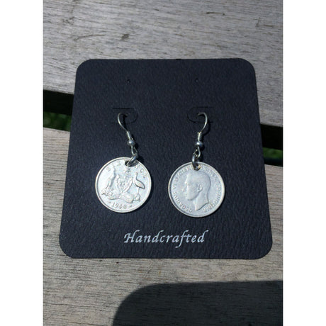 AUSTRALIAN SIXPENCE - EARRINGS