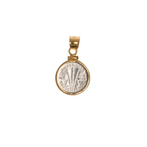 AUSTRALIAN THREEPENCE - GOLD FILLED BEZEL | Vintage Spirit - Handcrafted Coin Creations