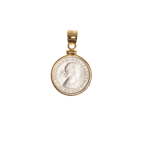 Australian Sixpence housed in a Gold filled Bezel - Choose the Year - back