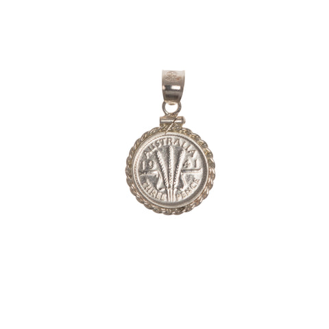 AUSTRALIAN THREE PENCE COIN BEZEL | Vintage Spirit – Twisted Rope Coin Bezel