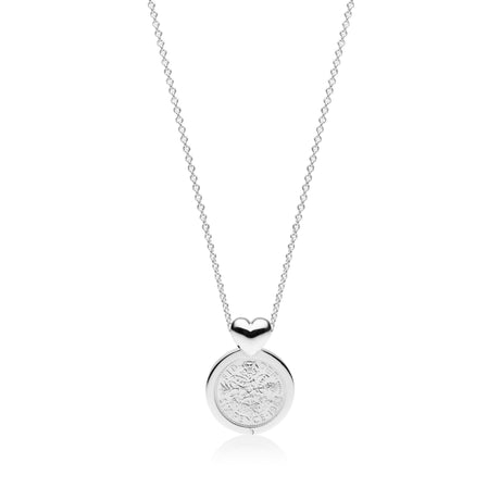 VS Custom Collection - Hand Finished Heart Pendant - British Sixpence