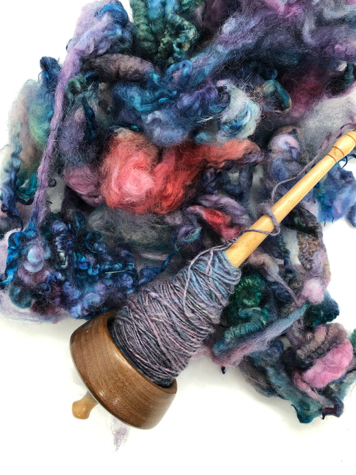 Spinning Up My Hand Dyed Fleece - Video