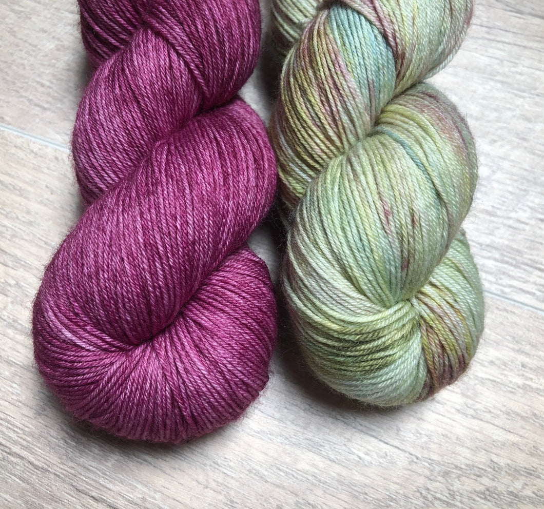 Cabernet / Mosaic Sock Yarn Kit