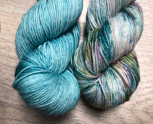 Robin Egg / Under The Water Sock Weight Yarn Kit