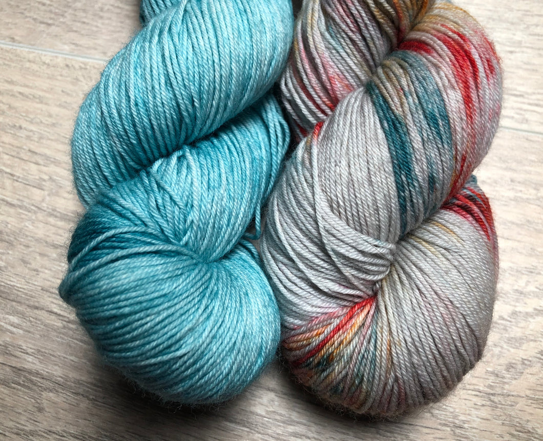 Robin Egg / Bohemian Sock Weight Yarn Kit