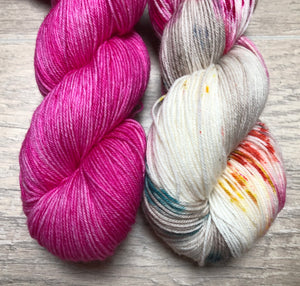 Magenta / Lay Up Sock Weight Yarn kit