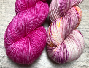 Magenta / Birthday Sock Weight Yarn Kit