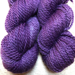 Violet 2 Ply Heavy Worsted Farm Raised Wool