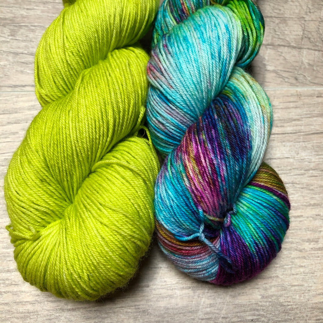Lime Light / Free Spirit Sock Weight Yarn Kits
