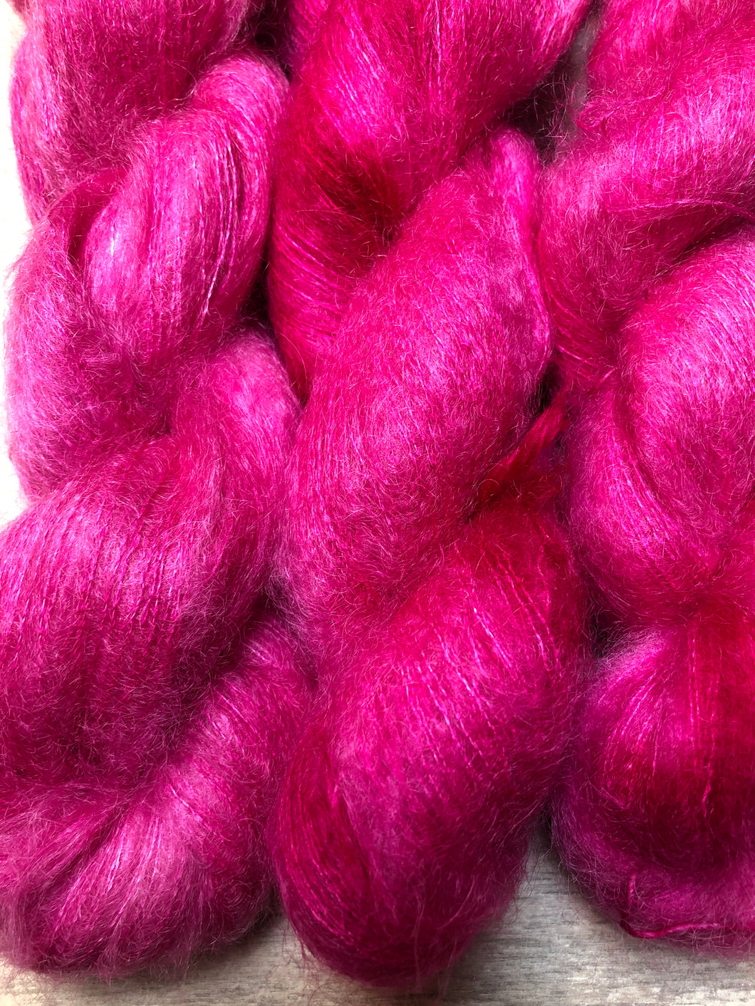 Magenta O' Soft Mohair Laceweight