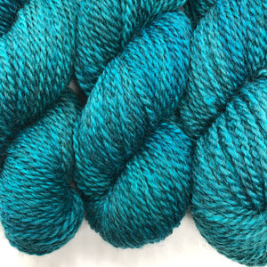 Retro Blue 2 Ply Worsted Farm Raised Yarn