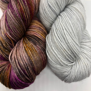 Uptown / Platinum Sock Weight Yarn Kit