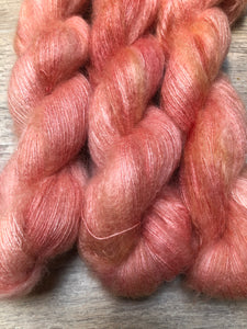 Peach O' So Soft Mohair Laceweight