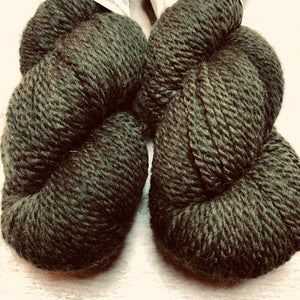 Olive 2 Ply Heavy Worsted Farm Raised Yarn