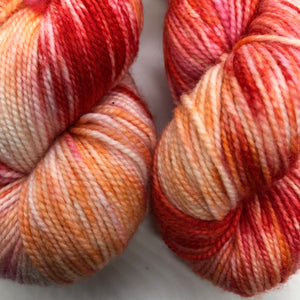Cottage Poppies Sock Weight Yarn