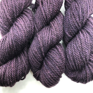 Egg Plant 3 Ply Bulky Weight Farm Yarn
