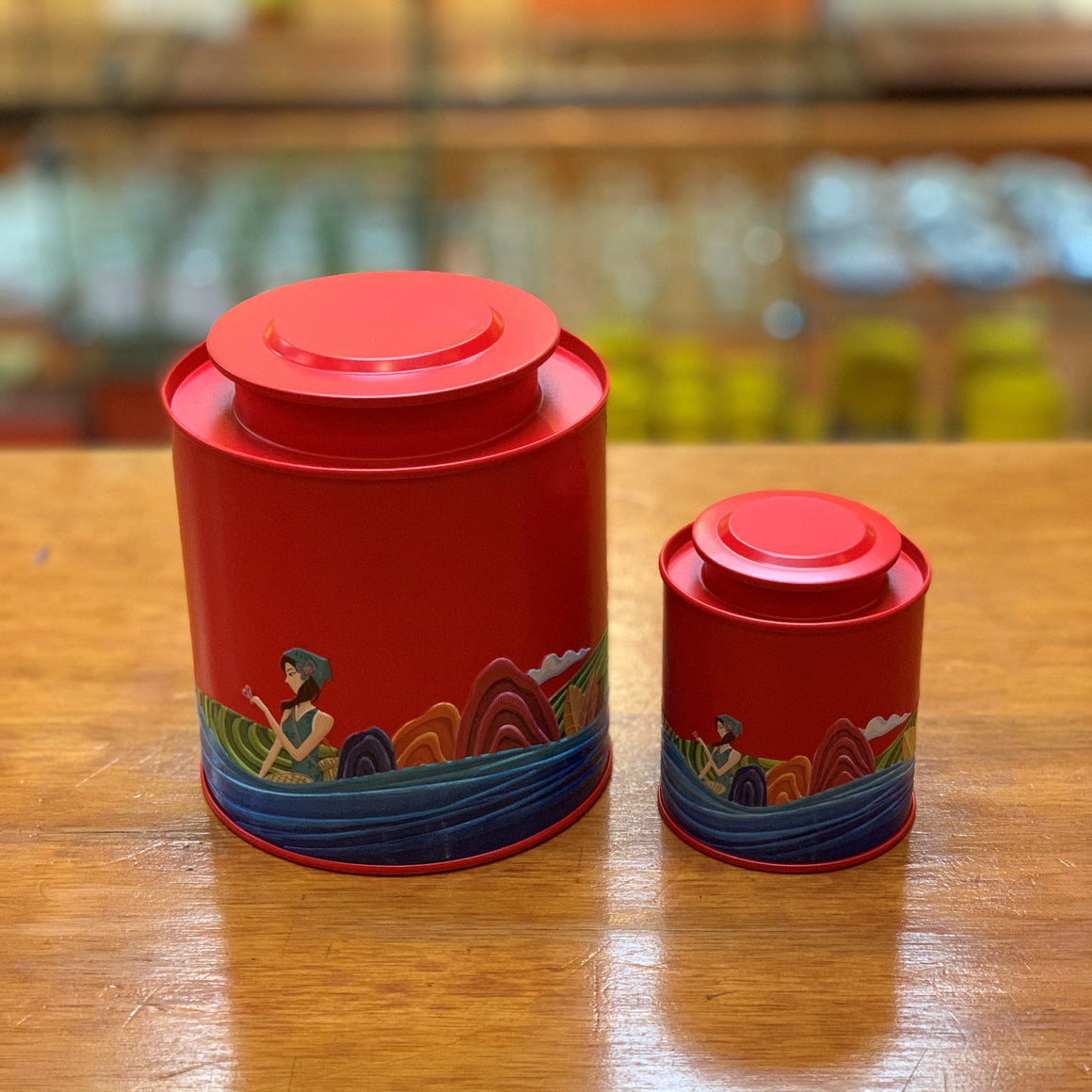 Red Tea Canister