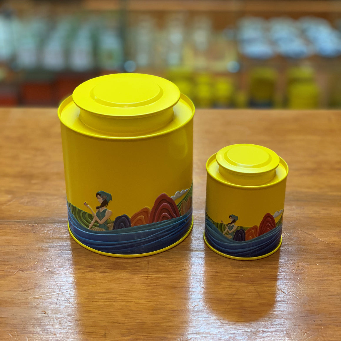 Yellow Tea Canister