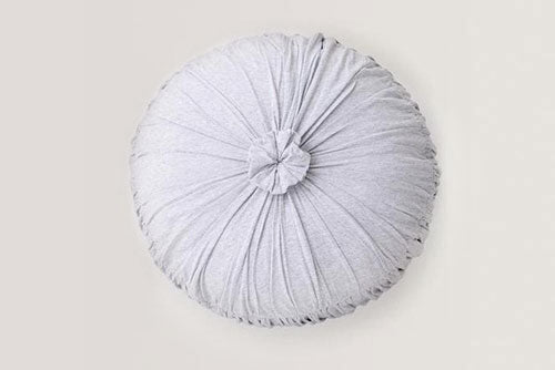 Cushion baby toddler Round Rosette Grey Marle by Lazybones organic cotton