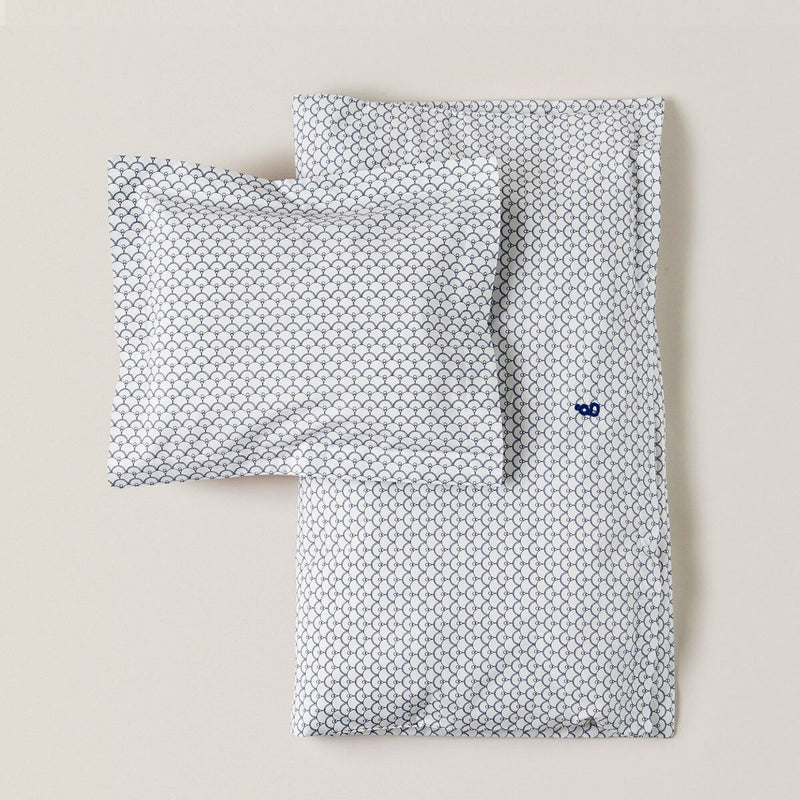 Single Bed Doona/fitted Sheet Toddler Set Cupola design Navy Garbo And Friends