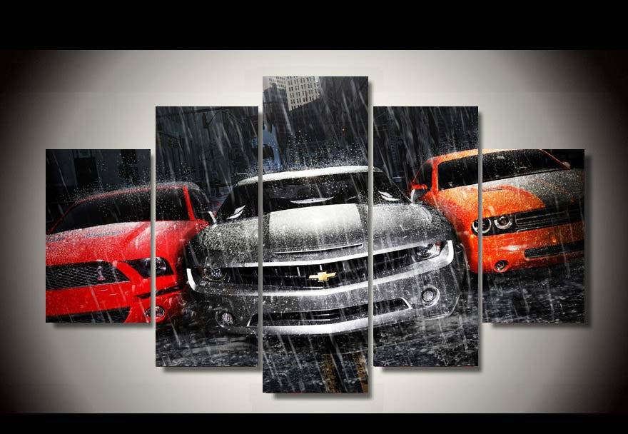 5 Piece Canvas Muscle Car Poster Globalhypercars