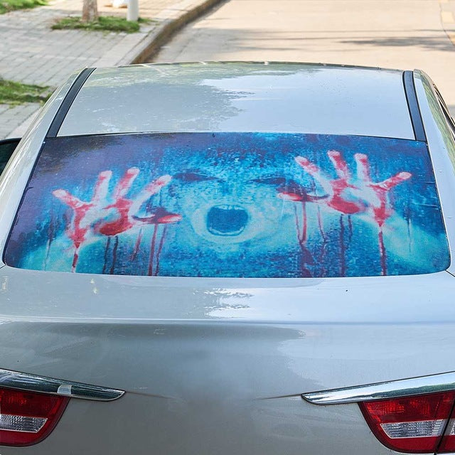 Scary Car Rear Windshield Stickers