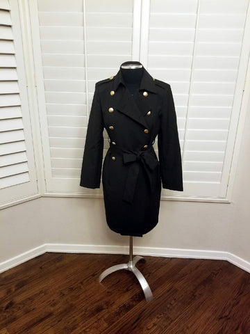 Black Trench Coat/Dress