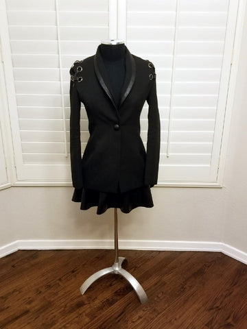 Black Jacket with Lace Back