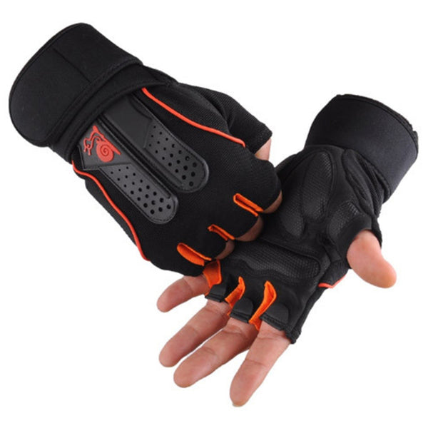 Fitness Sports Gym Gloves For Weightlifting and Exercise Half Finger