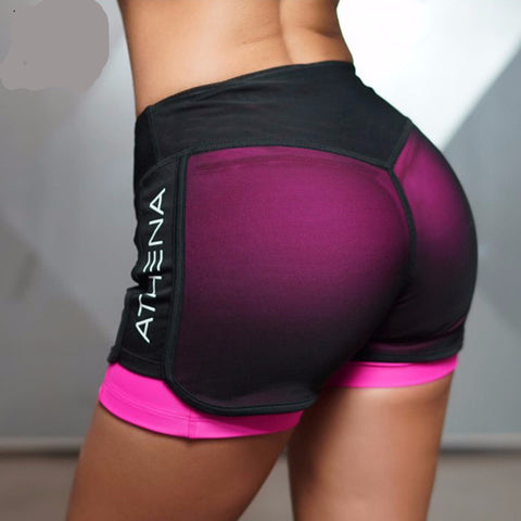 Sexy 2 in 1 Fitness Yoga Shorts for Women Comfortable Mesh Shorts Overlay Gym Yoga Short