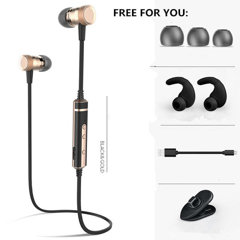 H6 Bluetooth Earphone For Sports Running Exercise With Mic Earbud Wireless