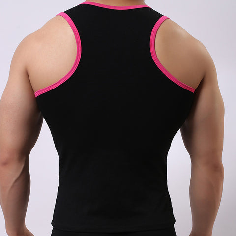 Men Elastic Sleeveless Tank Top Shirts