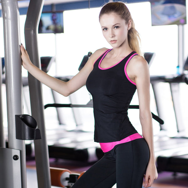 Quick Dry Sleeveless Women's Fitness Shirts