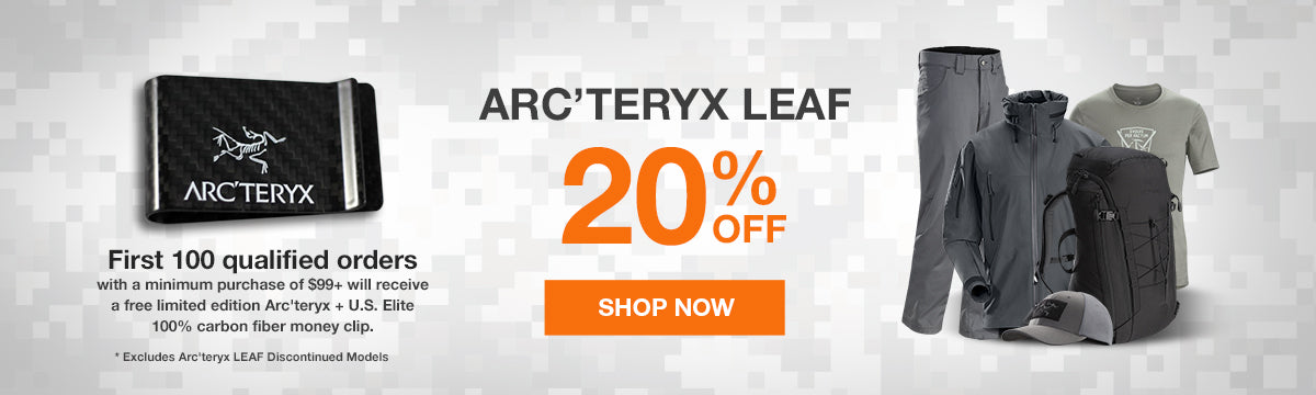 Get 20% off ARC'TERYX LEAF at US Elite Gear