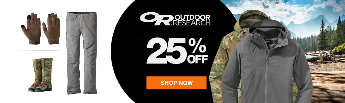 Get 25% off Outdoor Research at US Elite Gear