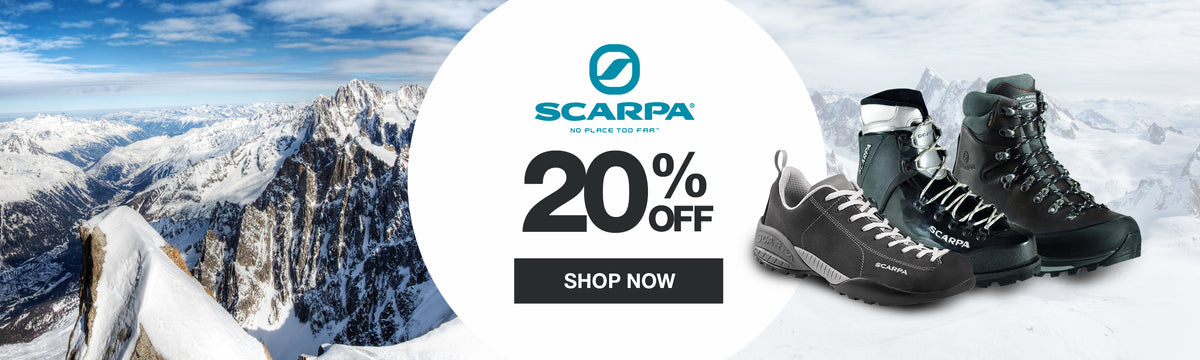 Get 20% off Scarpa at US Elite Gear