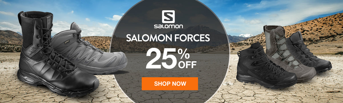 Get 25% off Salomon Forces at US Elite Gear