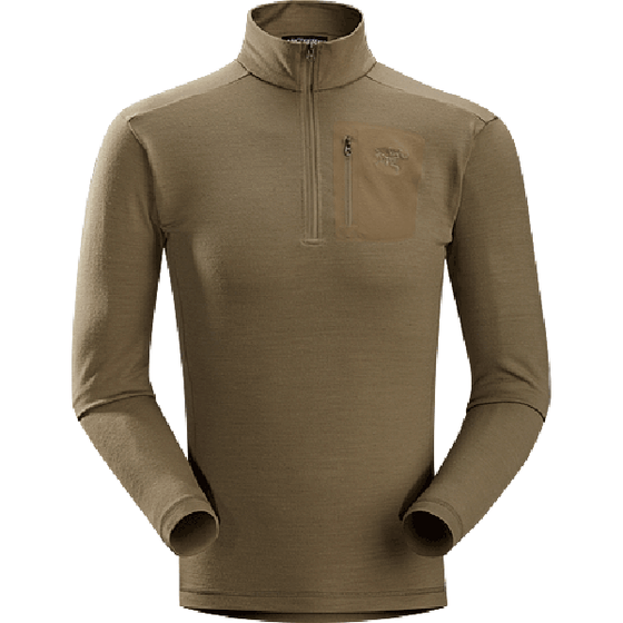 Arc'teryx LEAF Rho LTW Zip Neck Top Men's