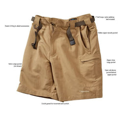 RailRiders Men's Bone Flats Shorts