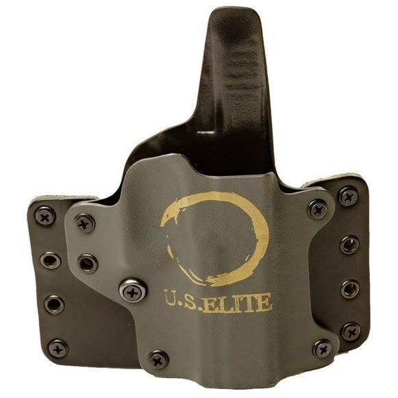 U.S. Elite Custom Blackpoint Tactical Leather Wing Holster