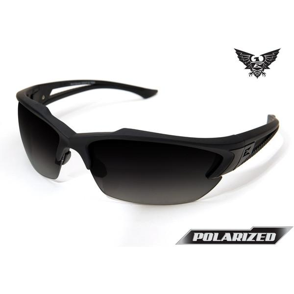 Edge Tactical Eyewear Acid Gambit - Soft-Touch Matte Black Frame / Polarized Gradient Smoke Lens
