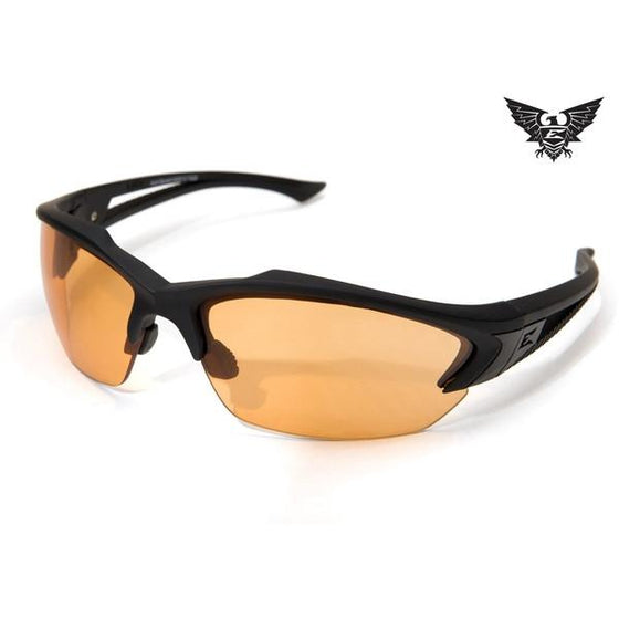 Edge Tactical Eyewear Acid Gambit - Matte Black Frame / Tigers Eye Lens