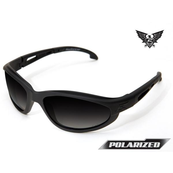 Edge Tactical Eyewear Falcon - Matte Black Frame / Polarized Gradient Lens