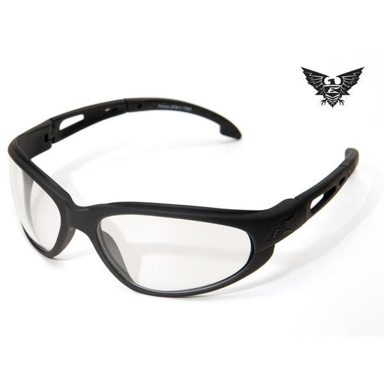 Edge Tactical Eyewear Falcon - Matte Black Frame / Clear Lens