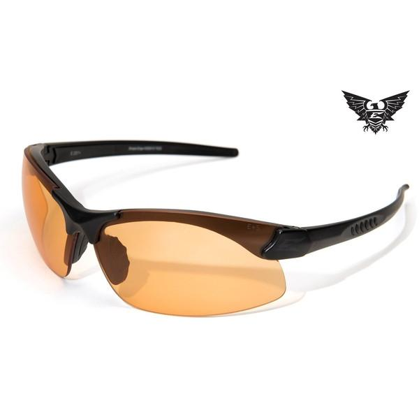 Edge Tactical Eyewear Sharp Edge - Matte Black Frame / Tigers Eye Lens