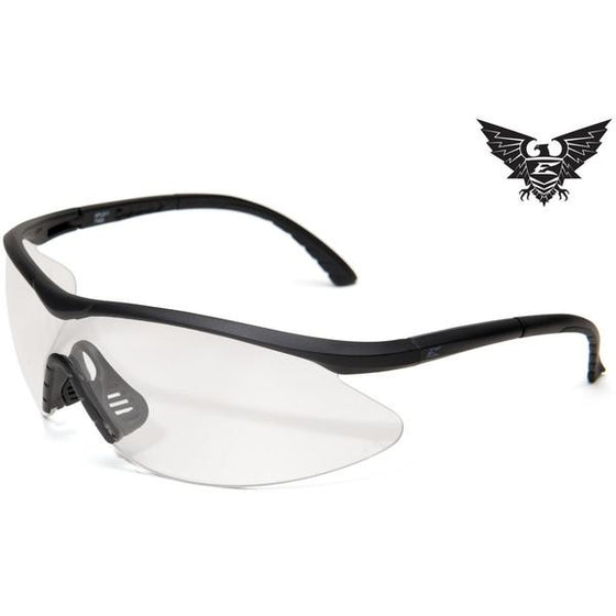 Edge Tactical Eyewear Fast Link - Matte Black Frame / Clear Lens