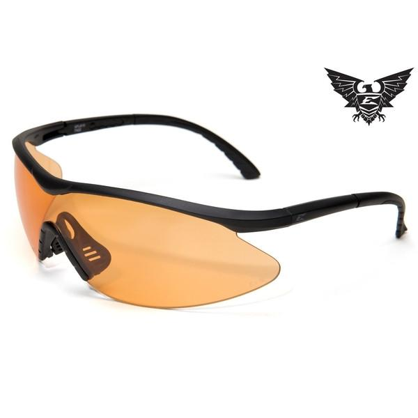 Edge Tactical Eyewear Fast Link - Matte Black Frame / Tigers Eye Lens