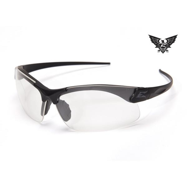 Edge Tactical Eyewear Sharp Edge Thin Temple - Matte Black Frame / Clear Lens